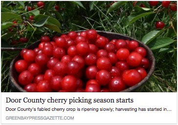 Door County Cherry Picking Season Starts - Green Bay Press-Gazette